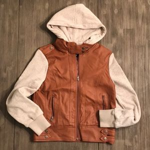 Ambiance brown faux leather jacket size Medium